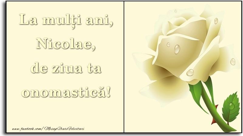 La mulți ani, de ziua ta onomastică! Nicolae - Felicitari onomastice de Sfantul Nicolae