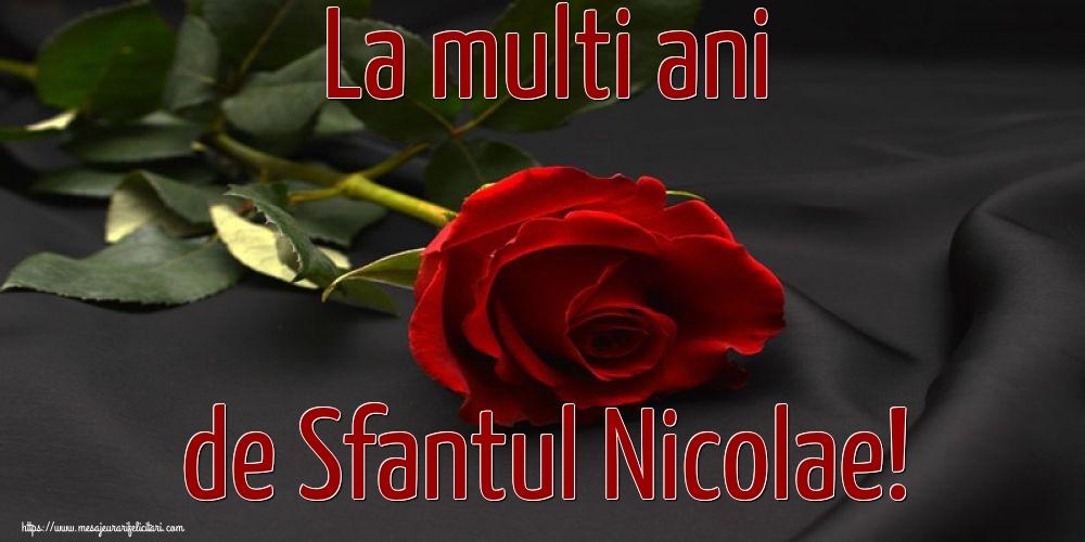 La multi ani de Sfantul Nicolae! - Felicitari onomastice de Sfantul Nicolae cu flori