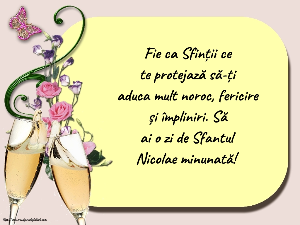 Să ai o zi de Sfantul Nicolae minunată! - Felicitari onomastice de Sfantul Nicolae cu mesaje