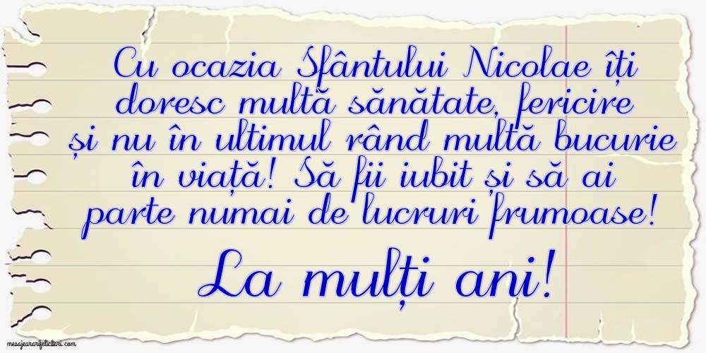 La mulți ani! - Felicitari onomastice de Sfantul Nicolae