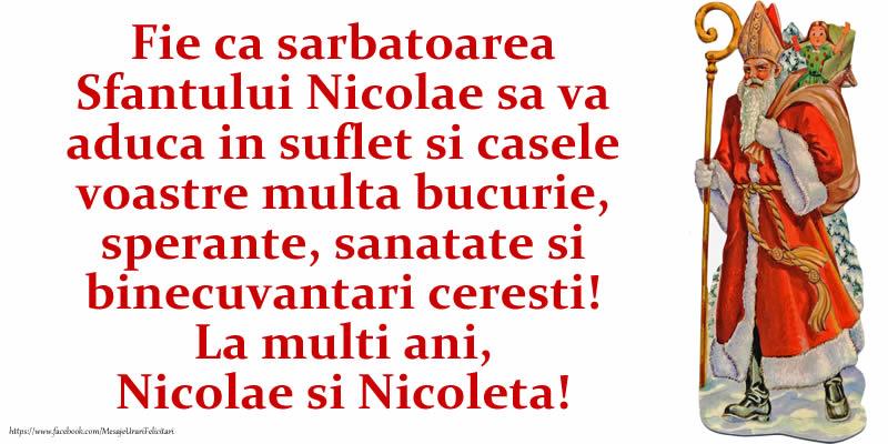 La multi ani, Nicolae si Nicoleta! - Felicitari onomastice de Sfantul Nicolae
