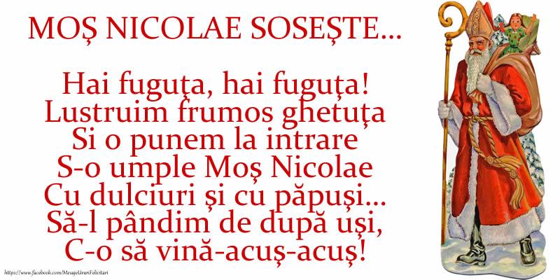 Poezie de Mos Nicolae: MOŞ NICOLAE SOSEŞTE - Felicitari onomastice de Sfantul Nicolae