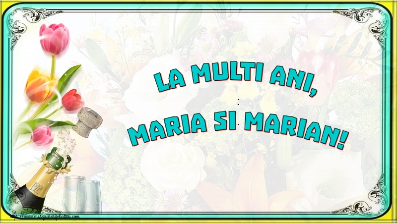La multi ani, Maria si Marian! - Felicitari onomastice de Sfanta Maria Mica cu sampanie