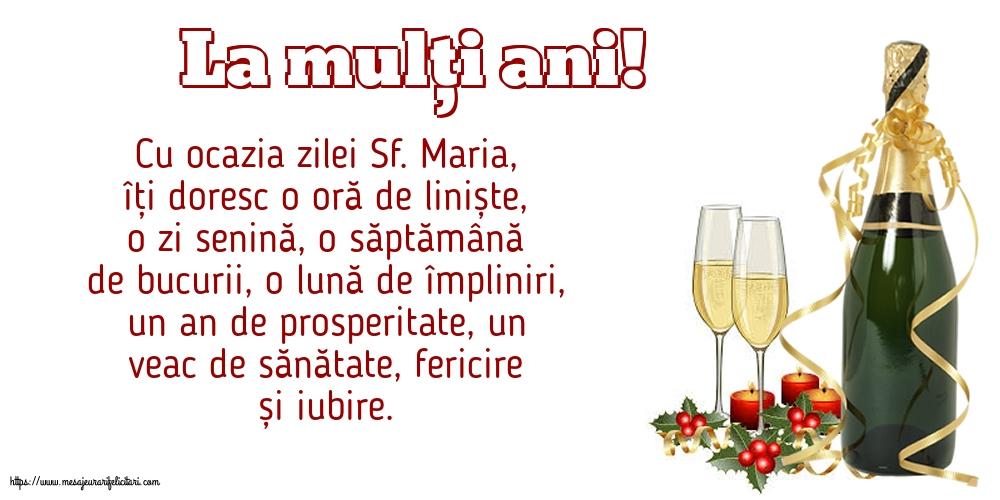 La mulți ani! - Felicitari onomastice de Sfanta Maria Mica cu mesaje