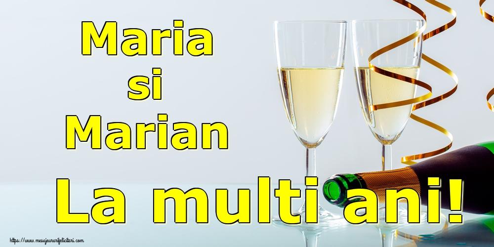 Maria si Marian La multi ani! - Felicitari onomastice de Sfanta Maria Mica