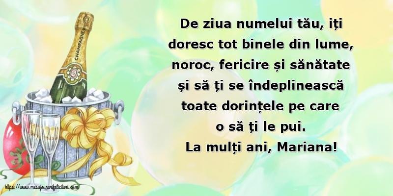 La mulți ani, Mariana! - Felicitari onomastice de Sfanta Maria Mica cu mesaje