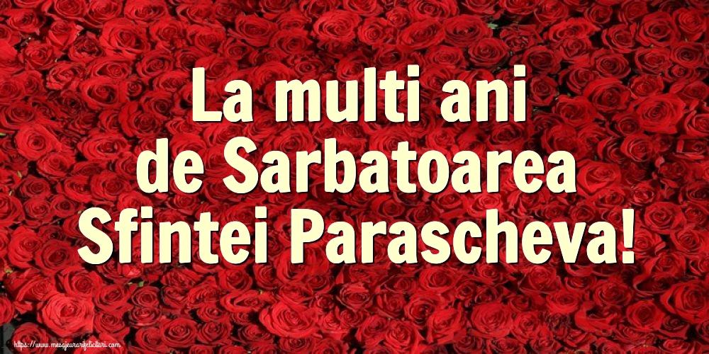 La multi ani de Sarbatoarea Sfintei Parascheva! - Felicitari onomastice de Sfanta Parascheva cu flori