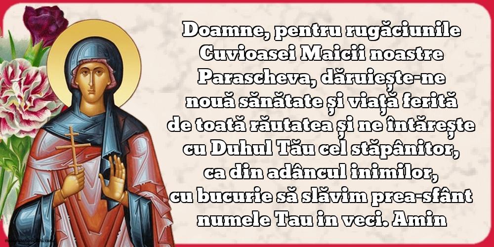 14 octombrie Sfanta Cuvioasa Parascheva de la Iasi - Felicitari onomastice de Sfanta Parascheva