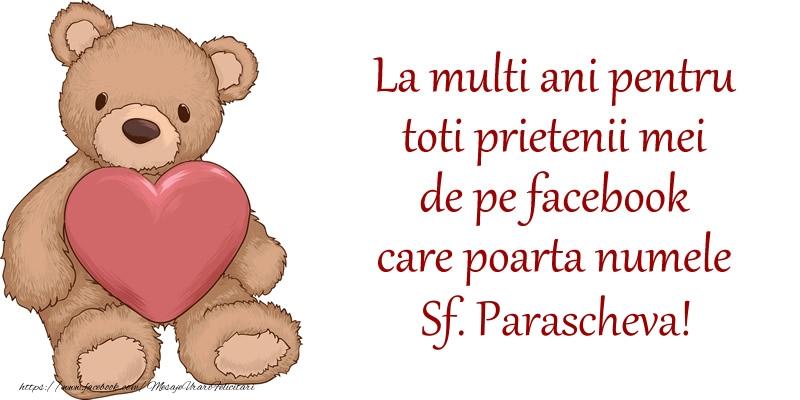 La multi ani pentru toti prietenii mei de pe facebook care poarta numele Sf. Parascheva! - Felicitari onomastice de Sfanta Parascheva