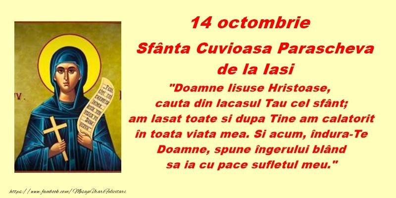 14 octombrie Sfanta Cuvioasa Parascheva de la Iasi