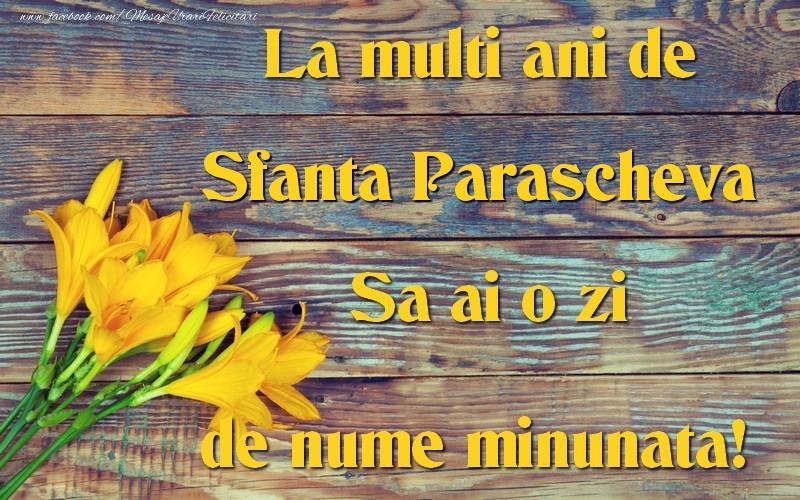 Sfanta Parascheva - Felicitari onomastice de Sfanta Parascheva