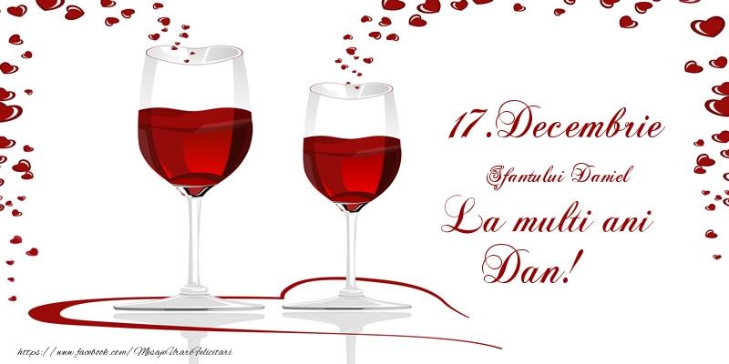 17.Decembrie La multi ani Dan! - Felicitari onomastice de Sfantul Daniel