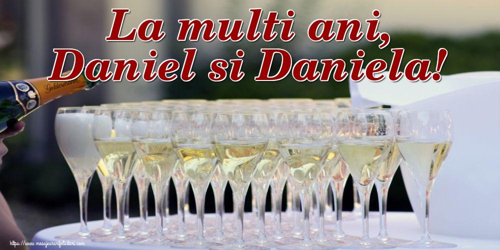 La multi ani, Daniel si Daniela! - Felicitari onomastice de Sfantul Daniel cu sampanie