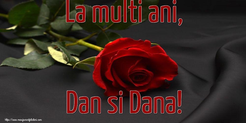 La multi ani, Dan si Dana! - Felicitari onomastice de Sfantul Daniel cu flori