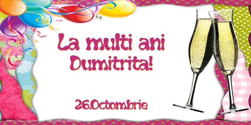La multi ani, Dumitrita!  - 26.Octombrie - Felicitari onomastice de Sfantul Dumitru