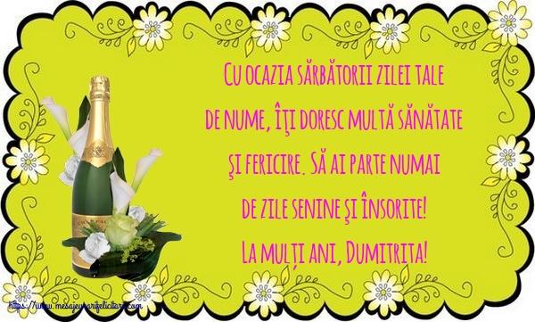 La mulți ani, Dumitrita! - Felicitari onomastice de Sfantul Dumitru cu mesaje