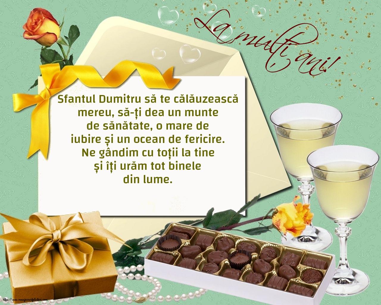 La mulți ani! - Felicitari onomastice de Sfantul Dumitru cu mesaje
