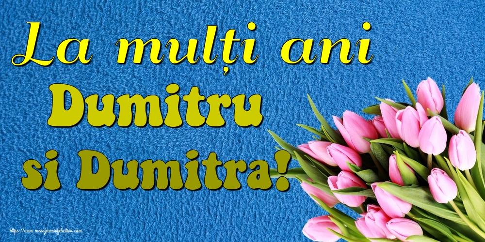 La mulți ani Dumitru si Dumitra! - Felicitari onomastice de Sfantul Dumitru