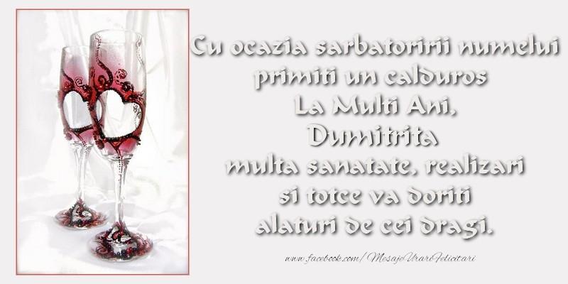 La multi ani, Dumitrita - Felicitari onomastice de Sfantul Dumitru