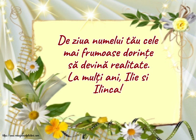 La mulți ani, Ilie si Ilinca! - Felicitari onomastice de Sfantul Ilie cu mesaje