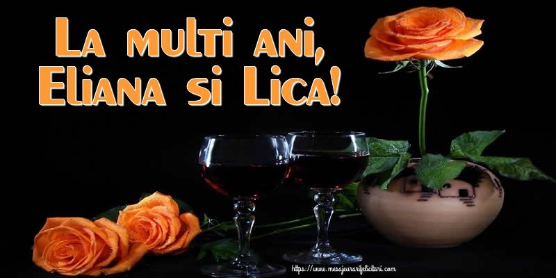 La multi ani, Eliana si Lica! - Felicitari onomastice de Sfantul Ilie cu flori