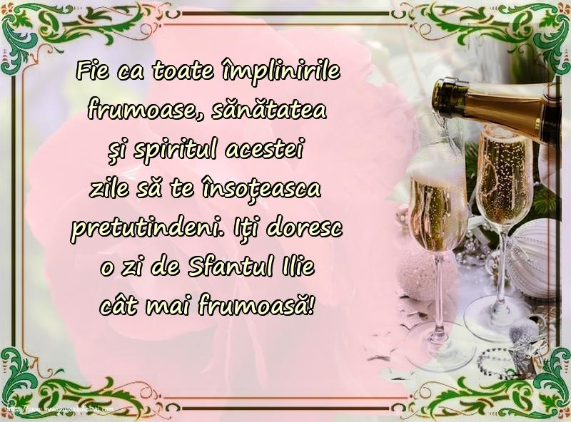Iți doresc o zi de Sfantul Ilie cât mai frumoasă! - Felicitari onomastice de Sfantul Ilie cu mesaje