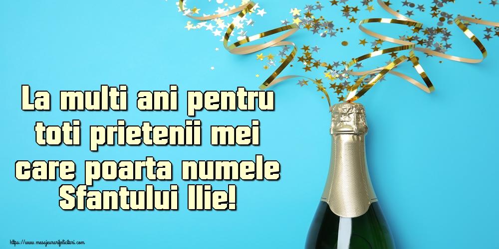 La multi ani pentru toti prietenii mei care poarta numele Sfantului Ilie! - Felicitari onomastice de Sfantul Ilie