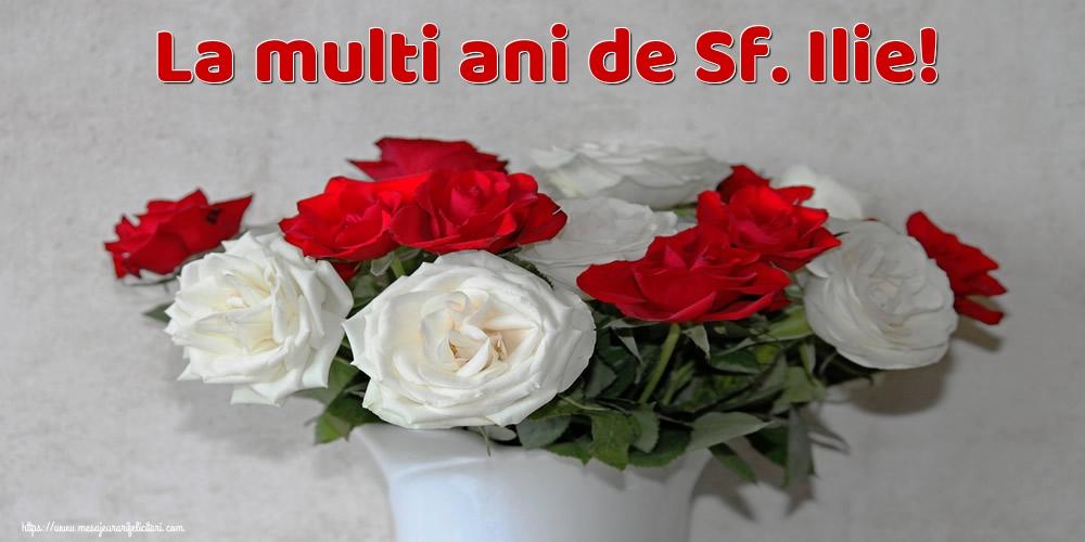 La multi ani de Sf. Ilie! - Felicitari onomastice de Sfantul Ilie cu flori