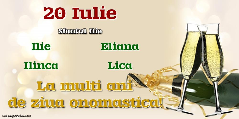 20 Iulie - Sfantul Ilie - Felicitari onomastice de Sfantul Ilie cu sampanie