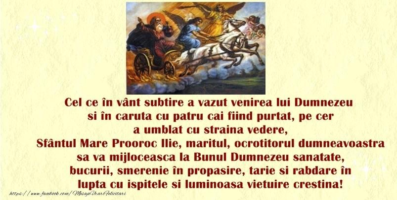 - Felicitari onomastice de Sfantul Ilie