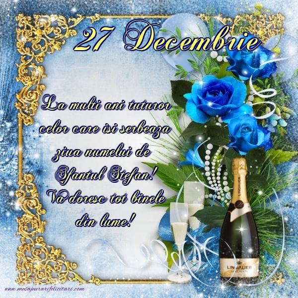 Felicitari de Sfantul Stefan - Felicitari onomastice de Sfantul Stefan