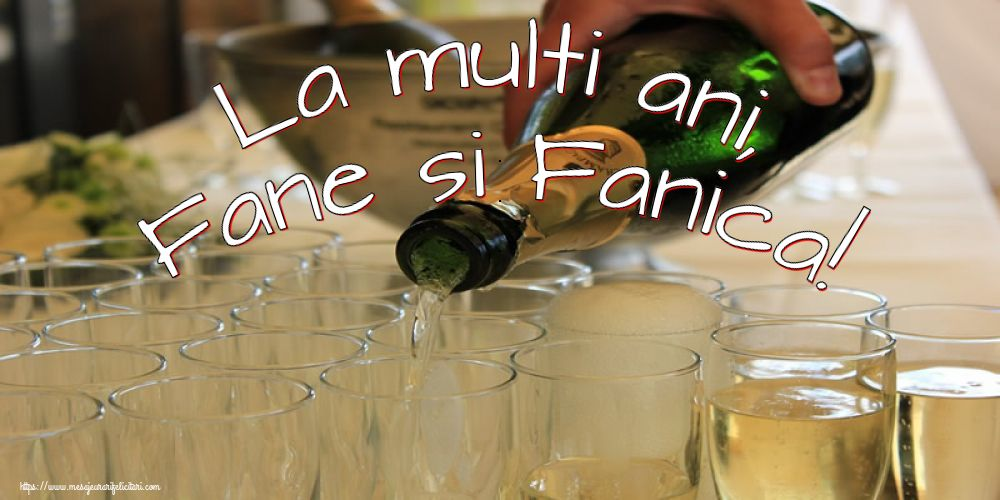 La multi ani, Fane si Fanica! - Felicitari onomastice de Sfantul Stefan cu sampanie