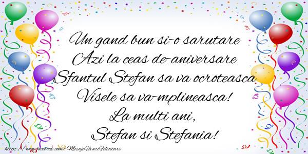 - Felicitari onomastice de Sfantul Stefan