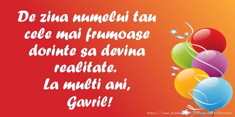 De ziua numelui tau cele mai frumoase dorinte sa devina realitate. La multi ani, Gavril! - Felicitari onomastice de Sfintii Mihail si Gavril