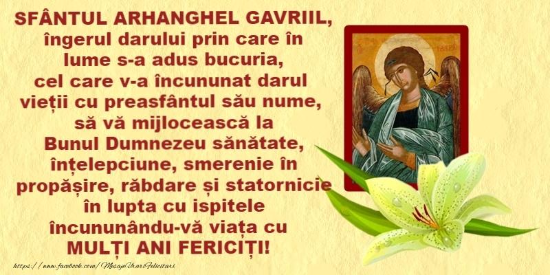 La multi ani de Sfintii Mihail si Gavril! - Felicitari onomastice de Sfintii Mihail si Gavril cu sfintii mihail si gavril