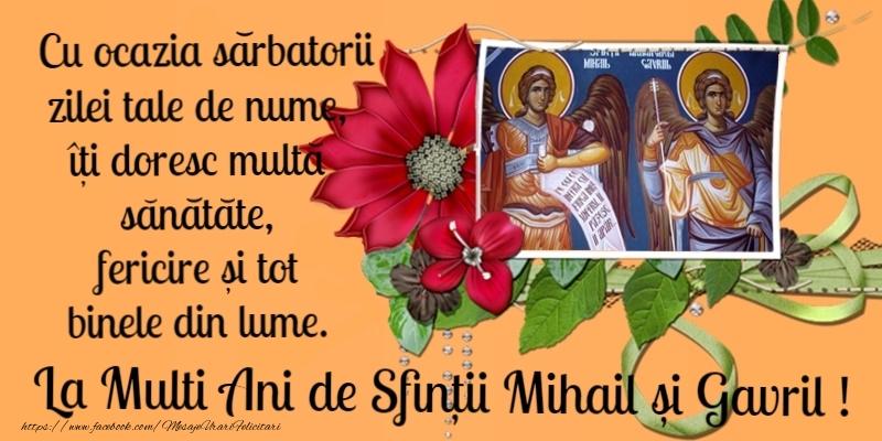 La multi ani de Sfintii Mihail si Gavril! - Felicitari onomastice de Sfintii Mihail si Gavril crestine