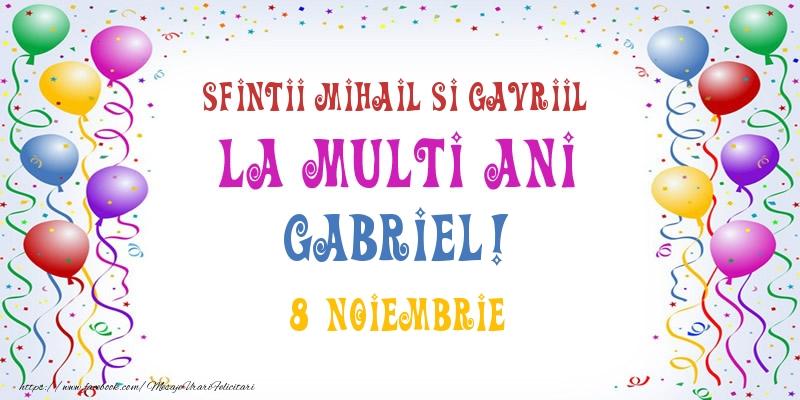 La multi ani Gabriel! 8 Noiembrie - Felicitari onomastice de Sfintii Mihail si Gavril cu sfintii mihail si gavril