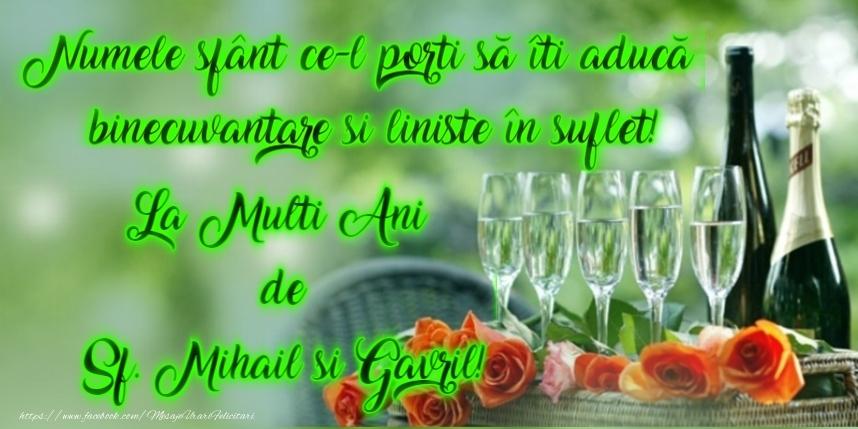 La multi ani de Sfintii Mihail si Gavril! - Felicitari onomastice de Sfintii Mihail si Gavril cu sampanie