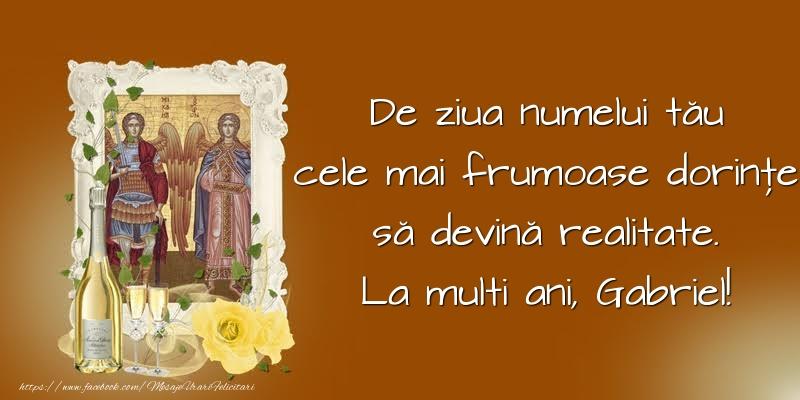 De ziua numelui tău - Felicitari onomastice de Sfintii Mihail si Gavril crestine