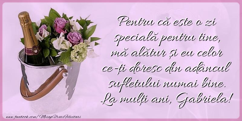 La mulţi ani, Gabriela! - Felicitari onomastice de Sfintii Mihail si Gavril cu flori