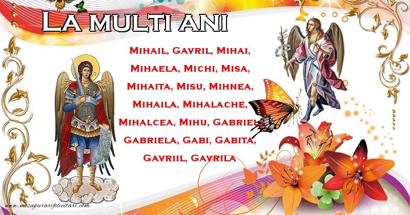 La multi ani! - Felicitari onomastice de Sfintii Mihail si Gavril
