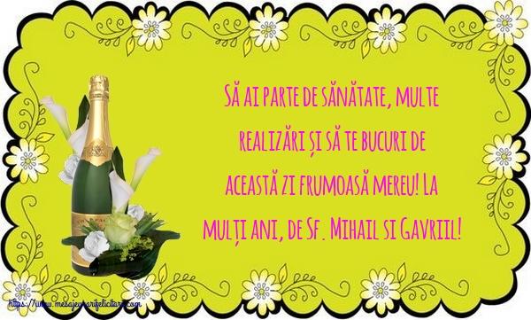 La mulți ani, de Sf. Mihail si Gavriil! - Felicitari onomastice de Sfintii Mihail si Gavril cu mesaje