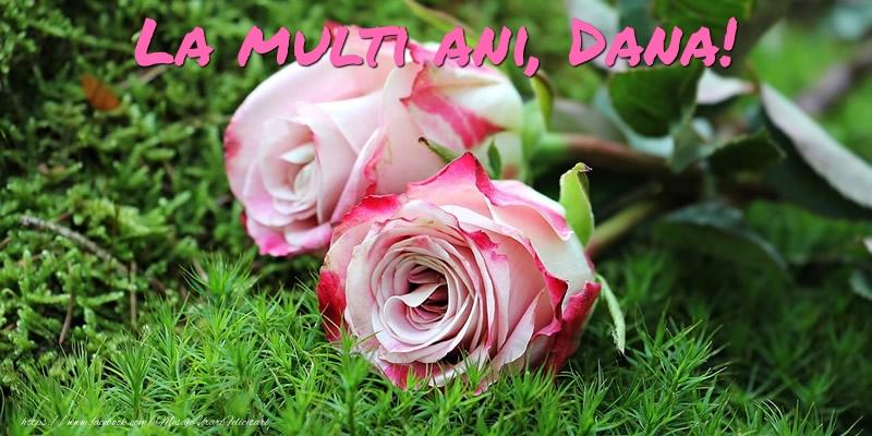 La multi ani, Dana! - Felicitari onomastice cu trandafiri