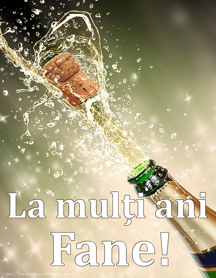 La mulți ani, Fane! - Felicitari onomastice cu sampanie
