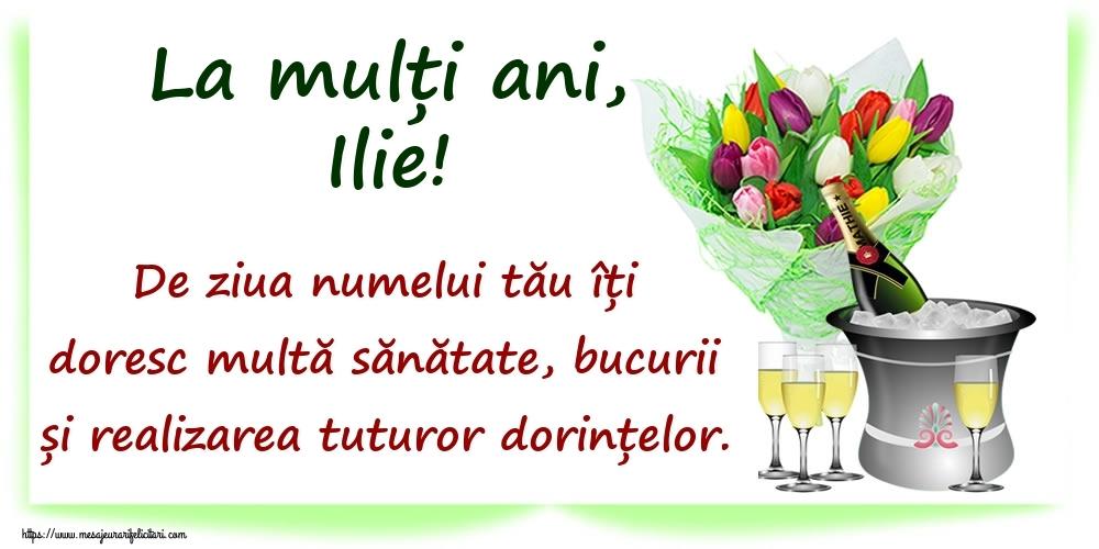 La mulți ani, Ilie! De ziua numelui tău îți doresc multă sănătate, bucurii și realizarea tuturor dorințelor. - Felicitari onomastice