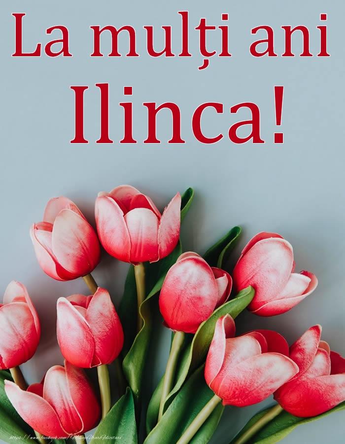 La mulți ani, Ilinca! - Felicitari onomastice cu flori