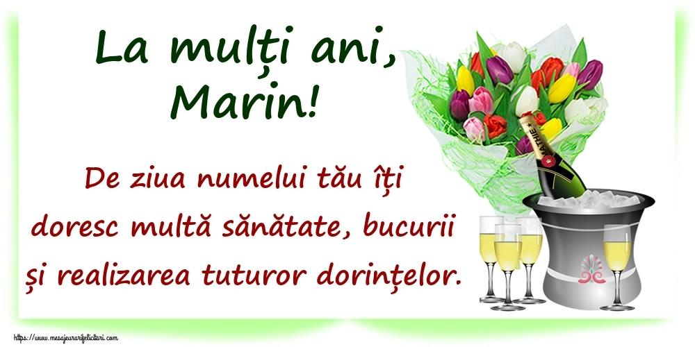 La mulți ani, Marin! De ziua numelui tău îți doresc multă sănătate, bucurii și realizarea tuturor dorințelor. - Felicitari onomastice