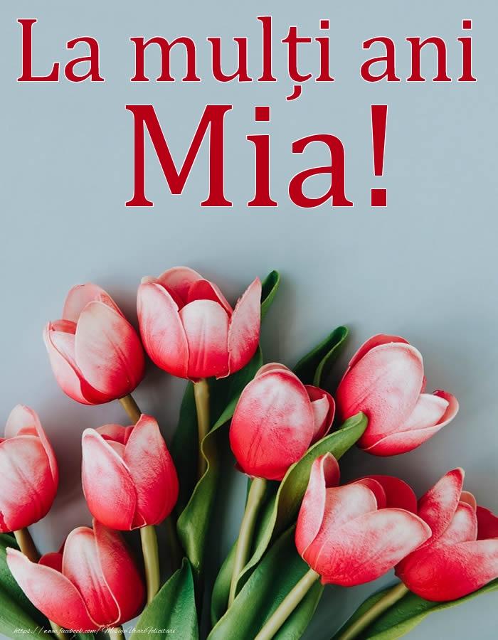 La mulți ani, Mia! - Felicitari onomastice cu flori