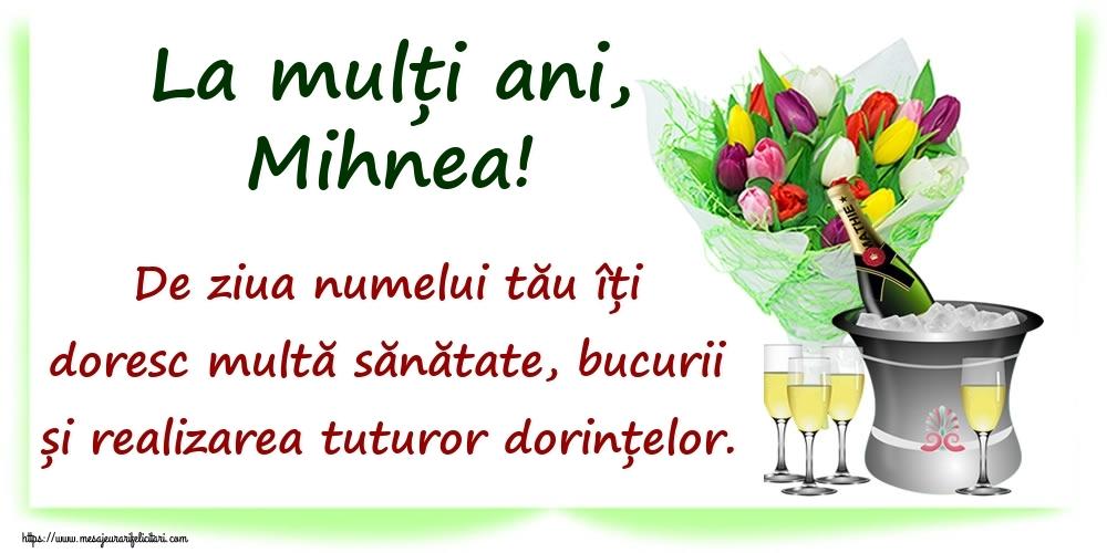 La mulți ani, Mihnea! De ziua numelui tău îți doresc multă sănătate, bucurii și realizarea tuturor dorințelor. - Felicitari onomastice
