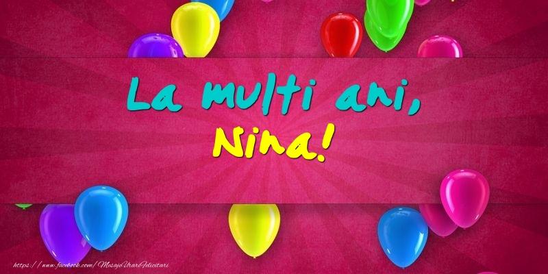 La multi ani, Nina! - Felicitari onomastice